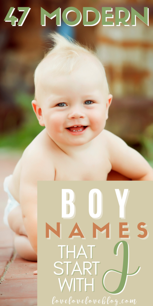 Pinterest graphic with text and baby boy sitting outside on walkway.