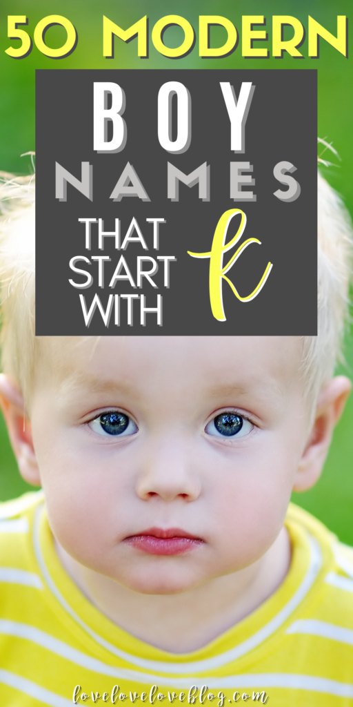 Pinterest graphic with text and boy in yellow and white striped shirt stands outside.