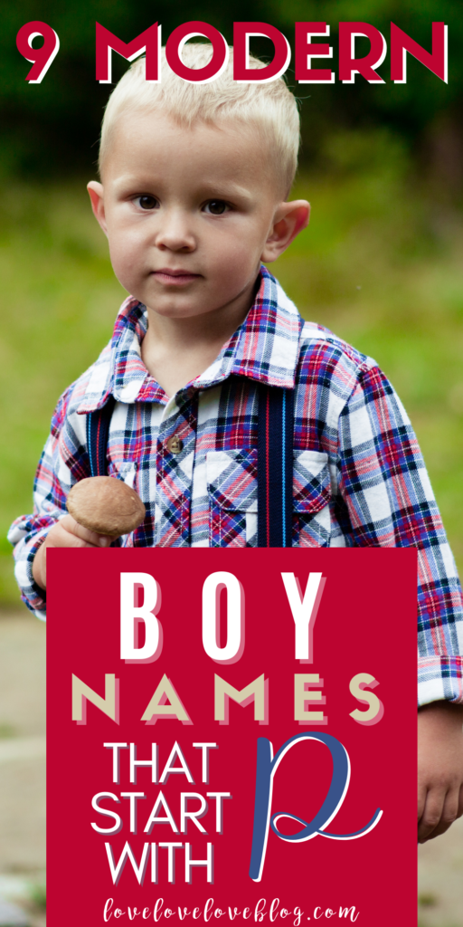 Pinterest graphic with text and little boy with suspenders.