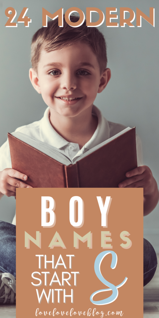 Pinterest graphic with text and little boy reading book.