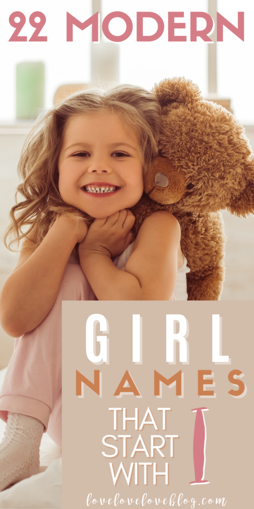 Pinterest graphic with text and little girl playing on bed with teddy bear.