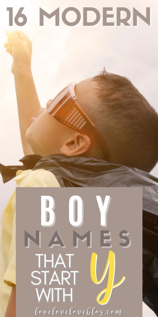 Pinterest graphic with text and little boy playing in homemade cape.