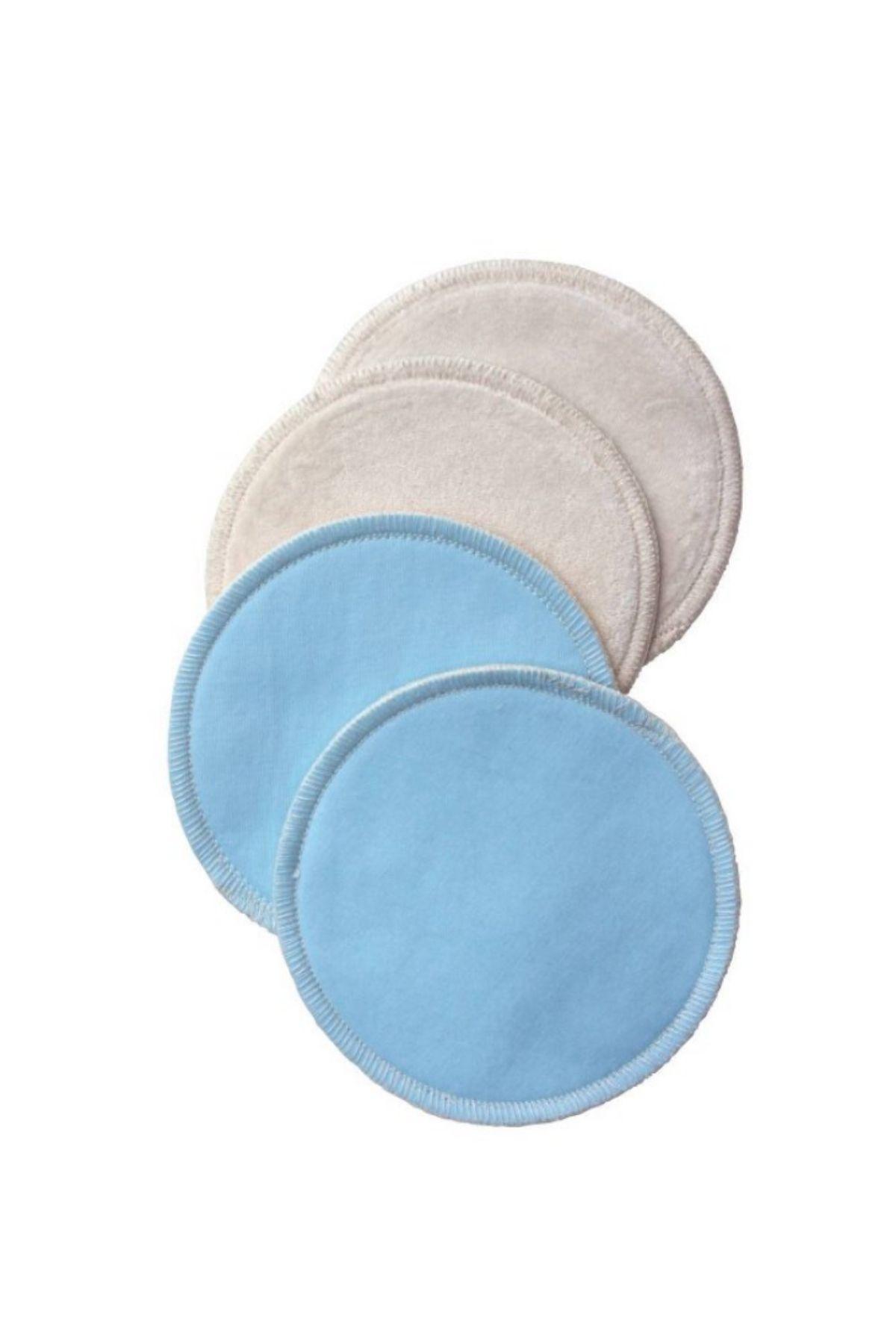 Nursing pads on white background.